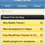 Wp pack mobile theme